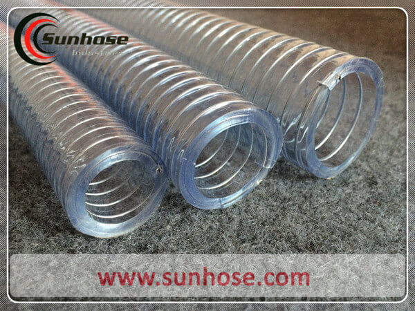 Transparent steel wire reinforced pvc hose