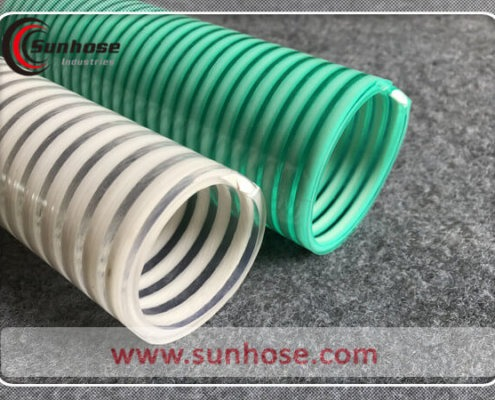 pvc spiral suction hose with helix
